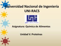 Universidad Nacional de Ingeniería UNI-RACS