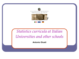 Italian Statistics curricula at universities and