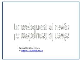 Webquest al revés