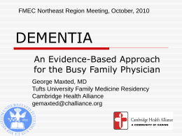 DEMENTIA - Family Medicine Digital Resource