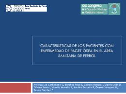 CARACTERÍSTICAS DE LOS PACIENTES CON ENFERMEDAD DE