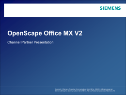 OpenScape Office MX Channel Presentation