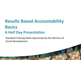 Results and Performance Accountabilty,