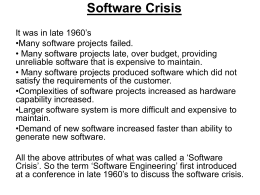 Software Crisis - Bangladesh University of