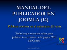 MANUAL DEL PUBLICADOR EN JOOMLA