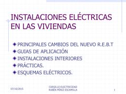 INSTALACIONES ELÉCTRICAS EN LAS VIVIENDAS