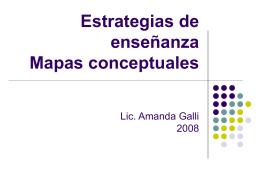 Estrategias de enseñanza Mapas conceptuales
