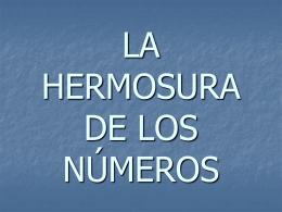 LA HERMOSURA DE LOS NUMEROS