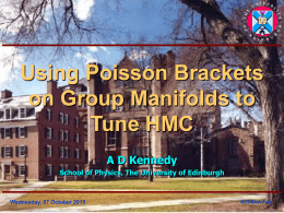 Using Poisson Brackets on Group Manifolds to Tune