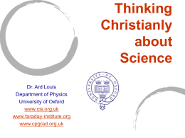 Science and Christianity: Friends or Foes?