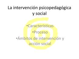 La intervención psicopedagógica y social