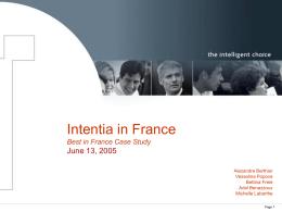 Intentia - HEC Paris