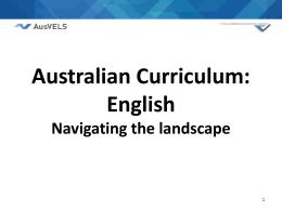 Curriculum Victoria 2012+