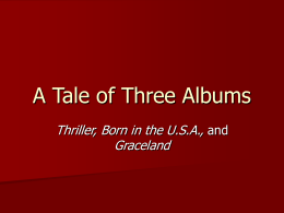 A Tale of Three Albums - Oxford University Press -