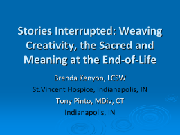 Stories Interrupted: Weaving Creativity, the