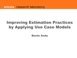 Improving estimation practices