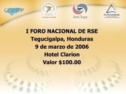 Diapositiva 1 - FUNDACION HONDUREÑA DE