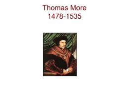 Thomas More 1478-1535