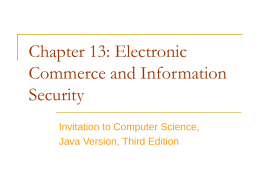 Chapter 13: Electronic Commerce and Information