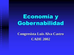 Economía y gobernabilidad