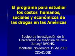 El estudio de costos económicos del consumo de