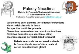 Paleo y Neoclima 2º cuatrimestre del 2007