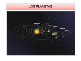 LOS PLANETAS: CARACTERÍSTICAS