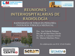 REUNIONES INTERHOSPITALARIAS DE RADIOLOGÍA