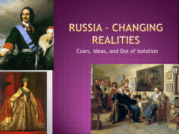 Russia – Changing Realities