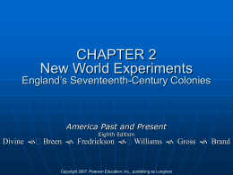 CHAPTER 2 New World Encounters England's