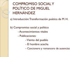COMPROMISO SOCIAL Y POLÍTICO DE MIGUEL HERNÁNDEZ