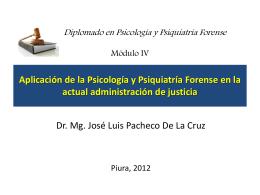 Aplicación de la Psicología y Psiquiatría Forense