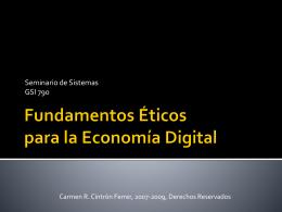 Fundamentos Éticos para la Economía Digital