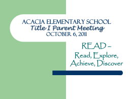 Acacia Elementary School Professional Development