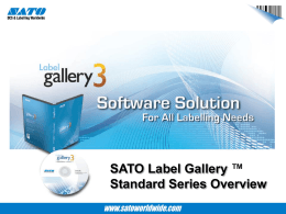 Label Gallery v3 Standard Series Label Gallery