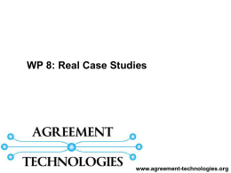 WP8: Case Studies - Agreement