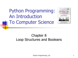 Python Programming: An Introduction To Computer