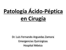 Patología Esofágica y Gástrica Benigna