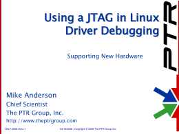 Using a JTAG in Linux Bring