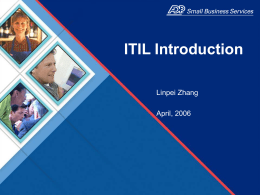 ITIL Introduction PPT