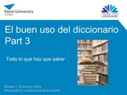 Les dictionnaires français - Aston University -