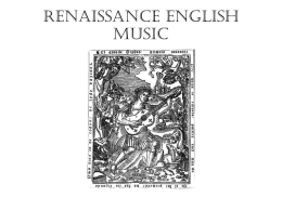 Renaissance english music