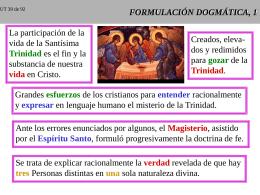 FORMULACION DOGMATICA, 1