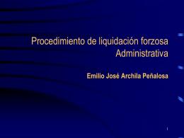 Procedimiento de liquidación forzosa