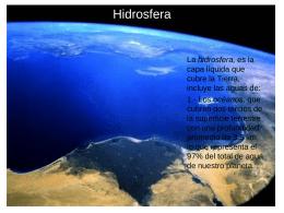 Hidrosfera (Introducción)