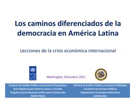 Crisis económica y gobernabilidad democrática