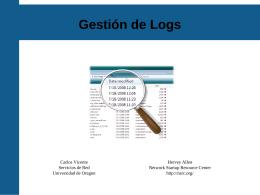 Gestión de Logs