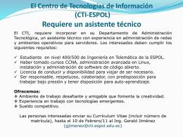 El Centro de Tecnologías de Información