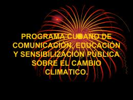 PROGRAMA CUBANO DE COMUNICACIÓN, EDUCACIÓN Y