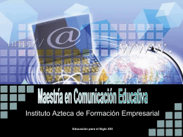 Mestría en Comunicación Educativa